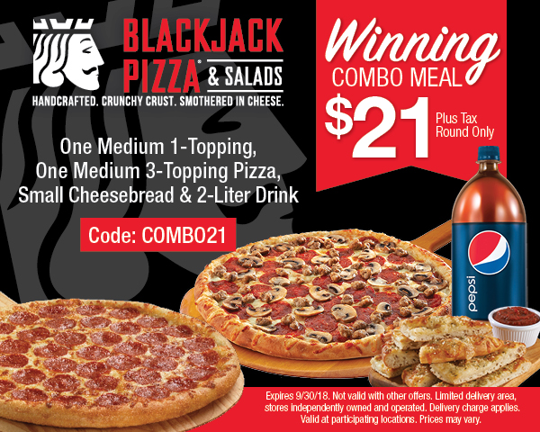 Blackjack pizza denver coupons poke transfert r4